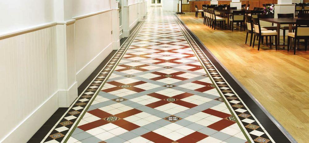 Floor tiles for hallways